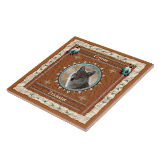Coyote  -Trickster- Ceramic Tile