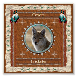 Coyote  -Trickster- Poster Print