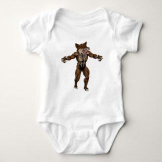 Coyote Wid Dog Mascot Baby Bodysuit