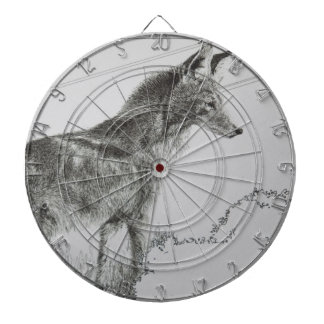 Coyote Wolf Dog Dartboard