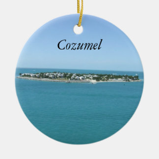 Cozumel Blue Water Tropical Ornamement Round Ceramic Ornament