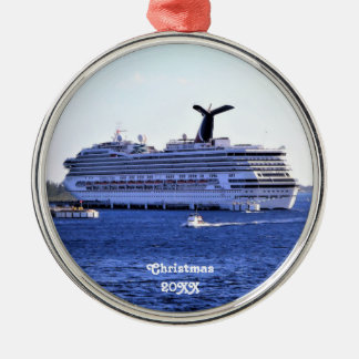 Cozumel Cruise Ship Visit Custom Silver-Colored Round Ornament