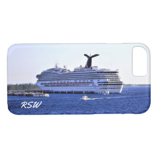 Cozumel Cruise Ship Visit Monogrammed iPhone 8/7 Case