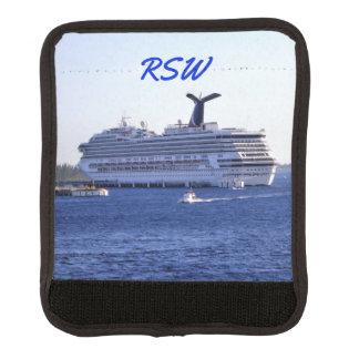 Cozumel Cruise Ship Visit Monogrammed Luggage Handle Wrap