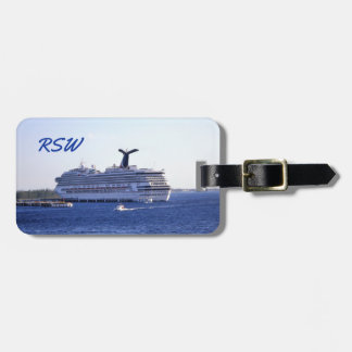 Cozumel Cruise Ship Visit Monogrammed Luggage Tag