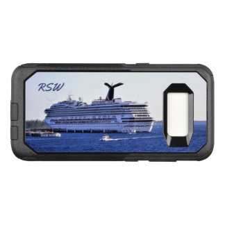 Cozumel Cruise Ship Visit Monogrammed OtterBox Commuter Samsung Galaxy S8 Case