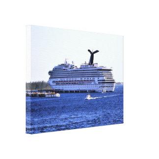 Cozumel Cruise Ship Visitor Canvas Print