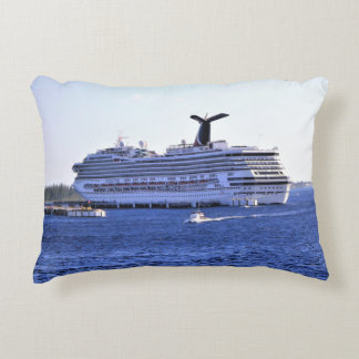 Cozumel Cruise Ship Visitor Decorative Pillow