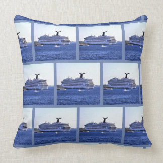 Cozumel Cruise Ship Visitor Pattern Throw Pillow