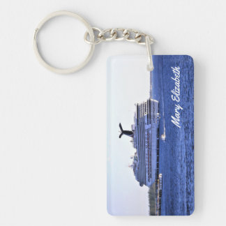 Cozumel Cruise Visitor Personalized Double-Sided Rectangular Acrylic Keychain