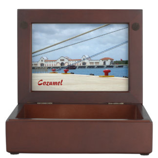 Cozumel Dockside Keepsake Box