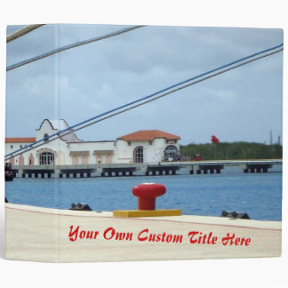 Cozumel Dockside Personalized 3 Ring Binder
