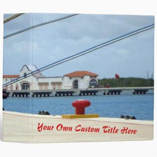 Cozumel Dockside Personalized Binder