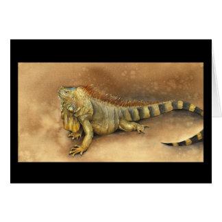 Cozumel Iguana Card