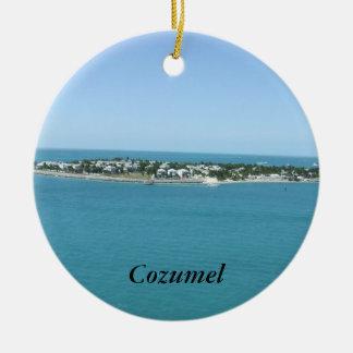 Cozumel Island Blue Water Tropical Ceramic Ornament