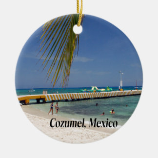 Cozumel Mexico Round Ceramic Ornament