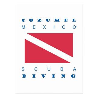 Cozumel Mexico Scuba Dive Postcard