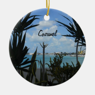 Cozumel Round Ceramic Ornament