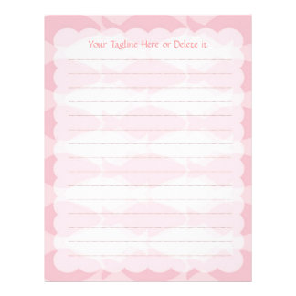 Cozy and Chic Design - Rose Pink Color Letterhead Template