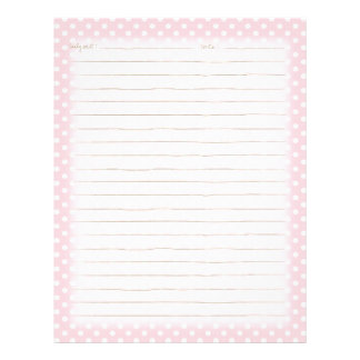 Cozy and Chic Polka Dots - Daily Notes Custom Letterhead