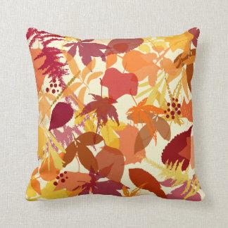 Cozy Autumn Leaves Pattern Pillow