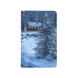 """""""Cozy Cabin in the Snow"""" Notebook"""