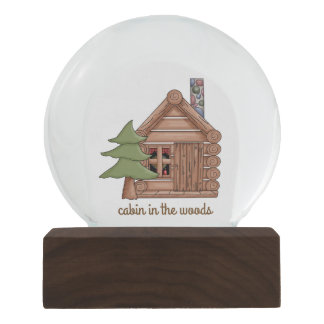 Cozy Cabin in the Woods Snow Globe
