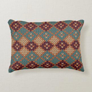 Cozy Cable-knit Boho Accent Pillow
