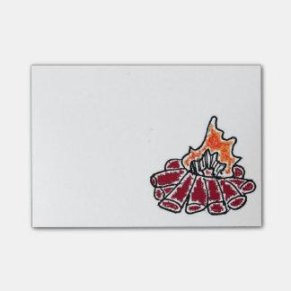 Cozy Campfire Cartoon Post-it Notes