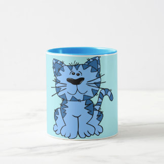 Cozy Cat in Blue Combo Mug