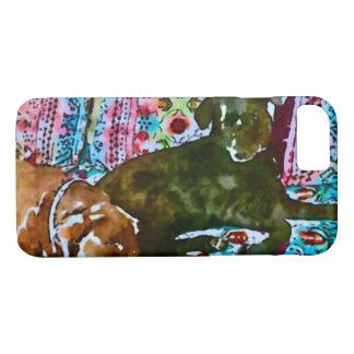 cozy chocolate lab black lab iPhone 8/7 case