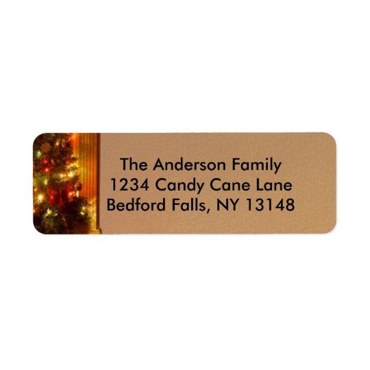 Cozy Christmas Scene Return Address Label