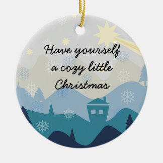 Cozy Christmas Wish Tree and Gift Ornament