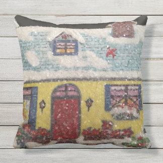 Cozy Cottage Throw Pillow