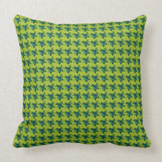"""Cozy Cushion's""-Tiny-Roses-Blue-Green_Set's Throw Pillow"