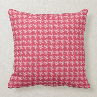 """Cozy Cushion's""-Tiny-Roses-Coral-Rose_Set's Throw Pillow"