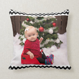 Cozy & Customized with Your Christmas Photo - Throw Pillow
