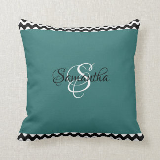 Cozy & Customized with Your Name & Initial - Throw Pillow