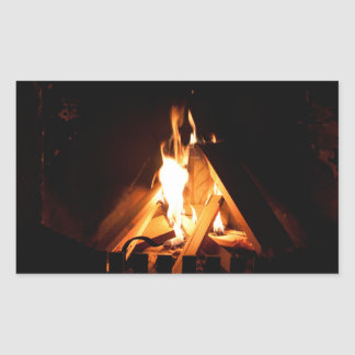Cozy fire sticker