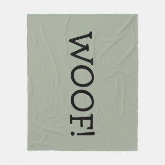 """Cozy fleece Blanket """"Woof"""""""