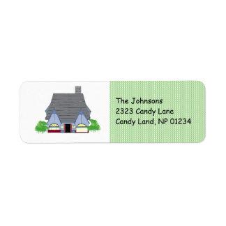 Cozy House Return Address Return Address Label