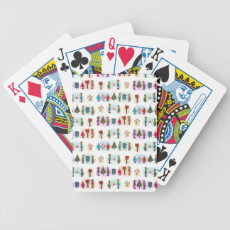 Cozy Kid Unicorns Pattern Bicycle Playing Cards