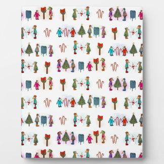 Cozy Kid Unicorns Pattern Plaque