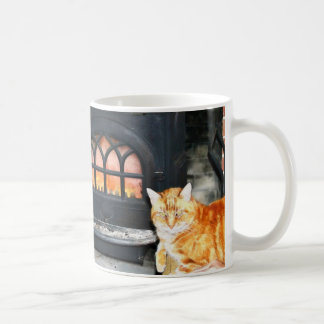 Cozy Kitty By Fire Mug