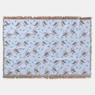 Cozy Little Birds Throw Blanket