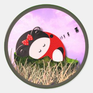 Cozy Nap Classic Round Sticker