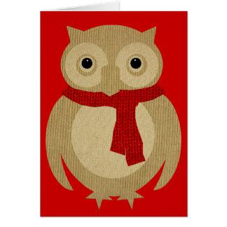 Cozy Owl Christmas Card