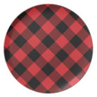 Cozy Plaid | Red and Black Buffalo Plaid Plate