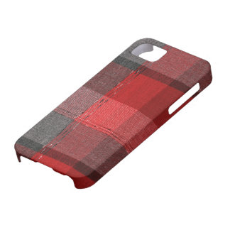 Cozy Red Vintage Winter Plaid iPhone 5 Covers