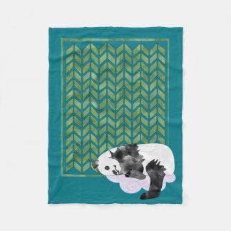 Cozy Sleeping Panda Baby's Quilt Fleece Blanket